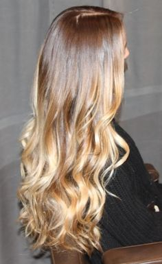 Brunette golden caramel honey and blonde ombre. I love ombré!!