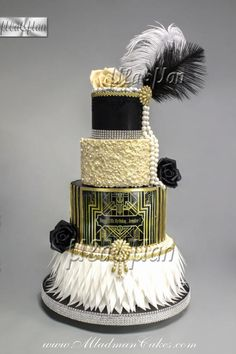 With the eagerly prepared for movie about to hit UK movie theaters, The Great Gatsby is set to be among the greatest wedding theme patterns for . Great Gatsby Motto, Great Gatsby Cake, Great Gatsby Wedding, The Great Gatsby, 1920s Wedding Cake, Great Gatsby Party Dress, Great Gatsby Party Decorations, Gatsby Wedding Dress, Roaring 20s Birthday Party