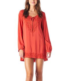 Take a look at this Carrot Floral Appliqué Tunic by MONORENO by Mür on #zulily today!