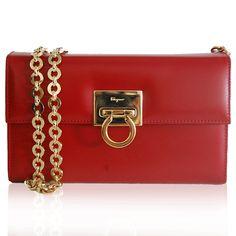 Salvatore Ferragamo Red Chain Bag