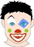 un maquillage de clown id es de maquillage gar on. Black Bedroom Furniture Sets. Home Design Ideas