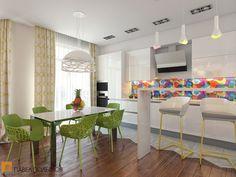 Интерьер кухни-гостиной / Kitchen interior design by Pevel Polinov Studio #Kitchen #design #interior #homedecor #interiordesign