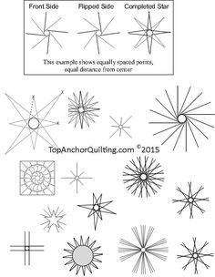 Star Quilt Patterns & Templates – TopAnchor Quilting Tools