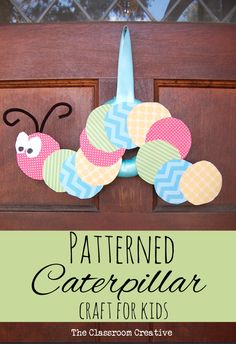 Preschool & kindergarten patterns caterpillar craft for kids!