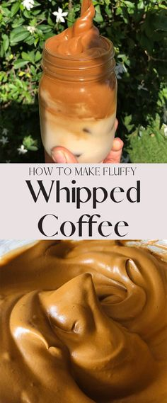 How to Make Whipped Coffee (Dalgona Coffee) + Tips Whipped Coffee is the BEST thing ever! It's a fluffy and incredibly delicious way to make your morning coffee, and takes only 5 minutes with a hand mixer! You can make it hot or cold! Smoothie Drinks, Smoothies, Smoothie Recipes, Yummy Drinks, Healthy Drinks, Yummy Food, Tasty, Iftar, Breakfast Recipes