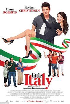 New Poster for Romantic-Comedy 'Little Italy' - Starring Emma Roberts & Hayden Christensen Hayden Christensen, Movies 2019, Hd Movies, Movies Online, Movie Tv, Teen Movies, Movie Songs, Little Italy, Emma Roberts