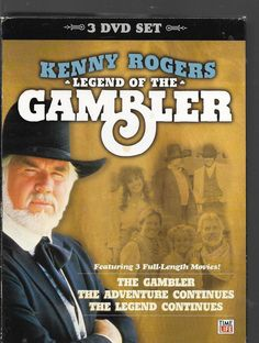 Kenny Rogers: Legend of the Gambler 3 Full-Length Movies: Also Has Playing Cards