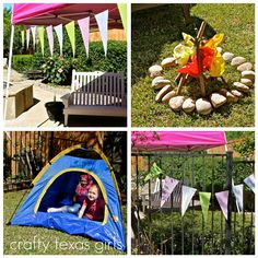 Camping Theme Party - fire must do!