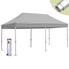 Eurmax PRO 10x20 Pop up Tent Instant Canopy Carport Shelter High Commercial Level (Gray) * Check out the image by visiting the link.
