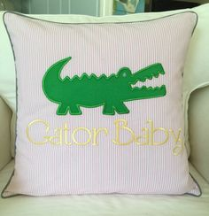 A personal favorite from my Etsy shop https://www.etsy.com/listing/249144379/personalized-gator-girl-pillow