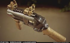 ArtStation - Pistol Grenade Launcher, Henrique Lopes