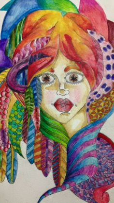 Love playing with bright inktense pencils