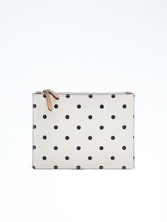 Mixed Dot Double Zip Pouch