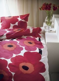 The famous Unikko pattern by Armi Ratia for Marimekko.