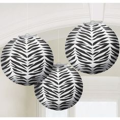 Zebra party pack-home/hostess from Green Party Goods