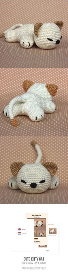 Mesmerizing Crochet an Amigurumi Rabbit Ideas. Lovely Crochet an Amigurumi Rabbit Ideas. Chat Crochet, Crochet Patterns Amigurumi, Crochet Dolls, Crochet Cat Pattern, Amigurumi Doll, Knitting Patterns, Crochet Crafts, Crochet Projects, Stuffed Animal Patterns