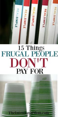 Frugal people save money in all kinds of ways. Here is a list of things you shouldn't be paying for. Are you buying them? Better check! via @www.pinterest.com/JenRoskamp