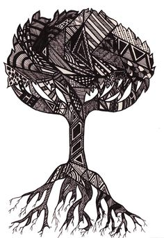 Tribal Tree Art Print