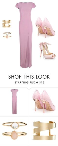 """""""Sem título #220"""" by palomagabriele on Polyvore featuring moda, Boohoo, Christian Louboutin, Sophia Webster, Accessorize e Isabel Marant"""