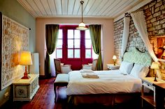 Primoula The Good Place, Greece, Curtains, Dream Hotel, House, Furniture, Bedrooms, Country, Home Decor
