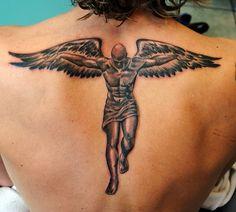 Winged man by gettattoo, via Flickr