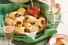These golden-crusted pastry rolls are packed full of hidden vegetables, so they not only taste delicious, they are also good for you. Hidden Vegetables, Baked Vegetables, Karen Martini Recipes, My Favorite Food, Favorite Recipes, Rhubarb Desserts, Cooking Sweet Potatoes, Sausage Rolls, Irish Cream