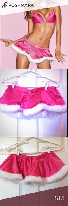 Victoria's Secret Pink santa skirt So cute! has been worn once over leggings for a party, excellent condition. Victoria's Secret Intimates & Sleepwear
