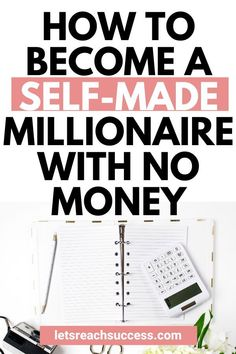 Do you want to be a self-made millionaire and become your own boss? There are real ways to do it even if you start from scratch. Self Made Millionaire, Become A Millionaire, Money Tips, Money Saving Tips, Financial Goals, Financial Planning, Financial Assistance, Investment Tips, Finance Tips