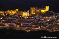 Obidos, Portugal ... a walled city ... at night.