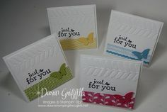 March 2013 Thank you notes video (Dawns stamping thoughts Stampin'Up! Demonstrator Stamping Videos Stamp Workshop Classes Scissor Charms Paper Crafts)