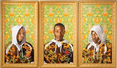 Triple Portrait of Charles I by Kehinde Wiley, 2007.  Oil and enamel on three canvases  © Kehinde Wiley