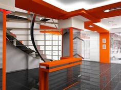 Commercial Interior Design Page 2   Cheap Bedroom Decorating Ideas.                              Naranja, blanco, gris, negro