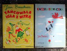 """Obie książki Brzechwy z ilustracjami Franciszki Themerson czytywałam i oglądałam wielokrotnie. Kochałam miłością wielką za zgrabne wierszyki i wesołe rysunki. Wydawnictwo Czytelnik Jan Brzechwa – """"Tańcowała igła z nitką"""" (1986) Jan Brzechwa – """"Kaczka dziwaczka"""" (1985) Greeting Cards, Cover, Books, Inspiration, Vintage, Art, Biblical Inspiration, Art Background, Libros"""