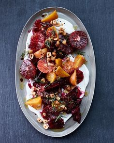 "This Blood Orange & Beet Salad from Athena Calderone's cookbook ""Cook Beautiful,"" is the perfect fall recipe."