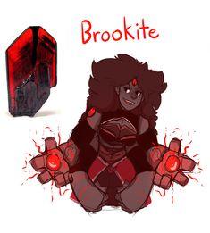Brookite by JordanSlavens - Gemfusion between Bloodshot Iolite and Ceylon Hessonite