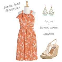 Summer bridal shower outfit