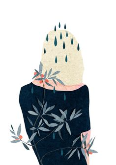 Vietnam-based freelance artist Xuan Loc Xuan combines soft colors and textures to create unique illustrations. More illustrations via Behance Art And Illustration, Flower Illustrations, Illustration Inspiration, Inspiration Art, Art Inspo, Art Graphique, Beautiful Drawings, Art Design, Art Drawings