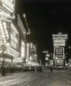 times square, nyc, 1929
