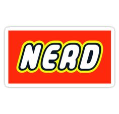 """""""NERD by Customize My Minifig"""" Stickers by ChilleeW 