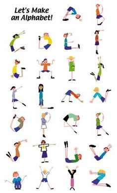 Let's make an Alphabet! Make your body in alphabets shape & your #exercise is done! :)