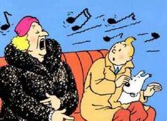 La Bianca Castafiore et Tintin