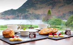 Tea and scones.   Inn on the Lake, Ullswater, Lake District, Cumbria