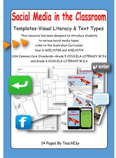 Home :: Subjects :: English :: Visual Literacy :: Social Media in the Classroom Text Types, Year 6, Australian Curriculum, Classroom Design, Common Core Standards, Literacy, Students, Teacher, Social Media