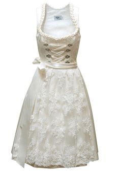 Bridal Dirndl With Semi Sweetheart Neckline