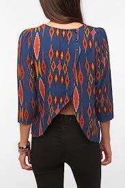 Abstraction: This blouse represents abstraction because the designer took the same shape and took them out of their basic character.