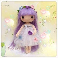 Instagram media katieyuenlj - 花仙子Flower Fairy 新尝试,绑了个纱裙,美美的~ ❤ #amigurumi #crochet #crocheting #häkeln #haken #handmade #handcraft #doll #yarn