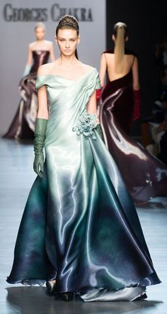 Georges Chakra Fall/ Winter Couture in July Fancy Schmancy Tie-Dye! Georges Chakra Couture F/W Couture Mode, Style Couture, Couture Fashion, Runway Fashion, Net Fashion, Dress Fashion, Luxury Fashion, Georges Chakra, Fashion Week