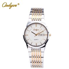 Find More Lover's Watches Information about ONLYOU Original Luxury Popular Brand Fashion Casual Lovers Quartz Watch Gold Steel Dress Watch Wrist Watches For Women Men Clock,High Quality watch crown,China watch holder Suppliers, Cheap watch tool from ONLYOU Watched on Aliexpress.com