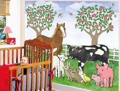 Best Kids Room Farm Wall Mural Funny Farm Wall Mural for Kids Bedroom Decor
