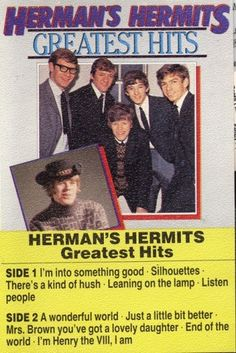 Herman's Hermits on Cassette Tape Greatest Hits Import $8.99 See Now on Bonanza.com Coupon on Site